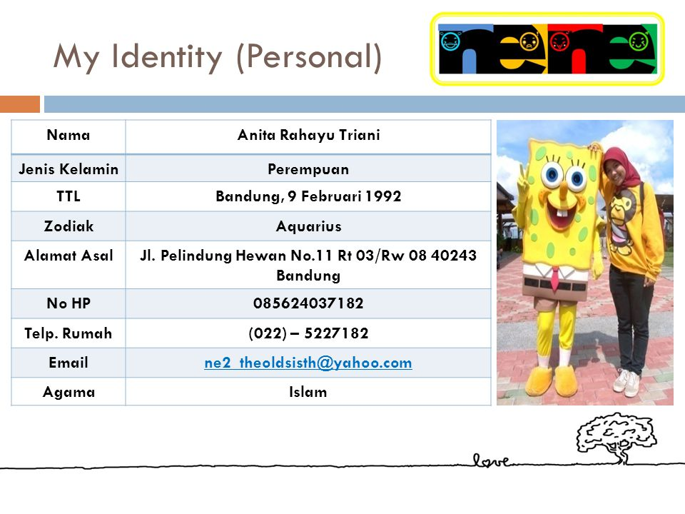 My Identity (Personal)