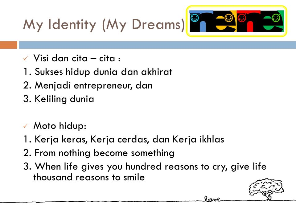My Identity (My Dreams)