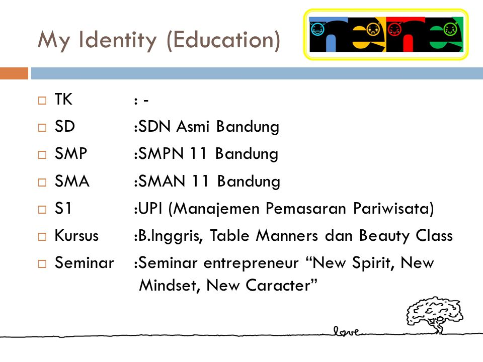 My Identity (Education)