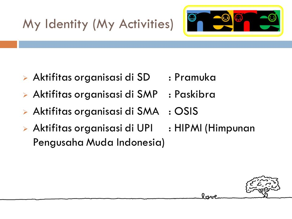 My Identity (My Activities)