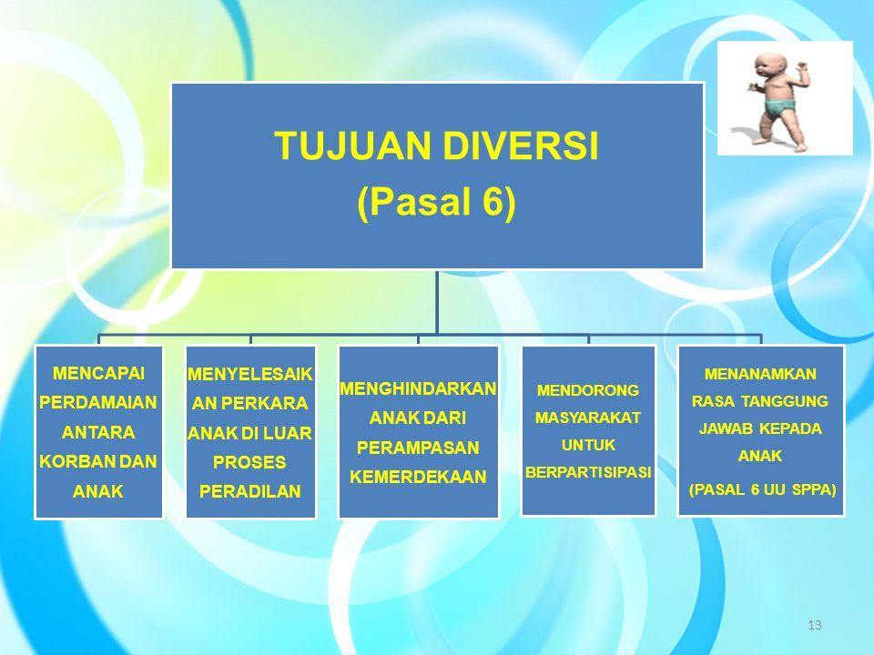 TUJUAN DIVERSI (Pasal 6)