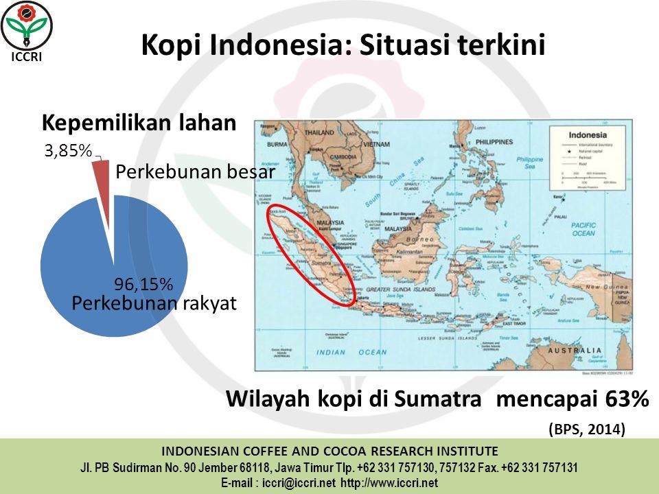 Wilayah kopi di Sumatra mencapai 63%
