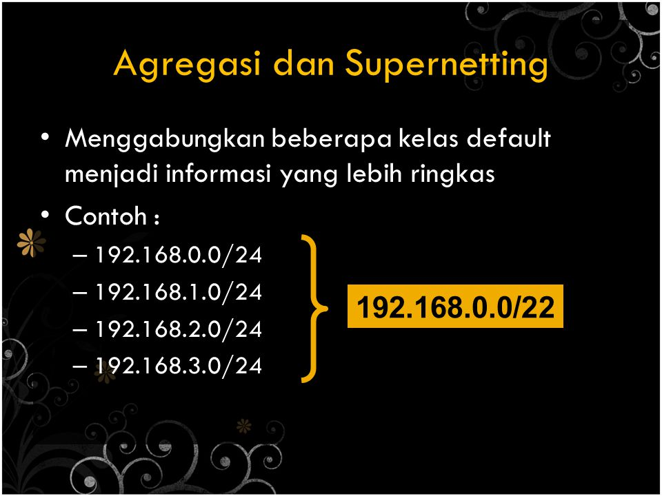 Agregasi dan Supernetting