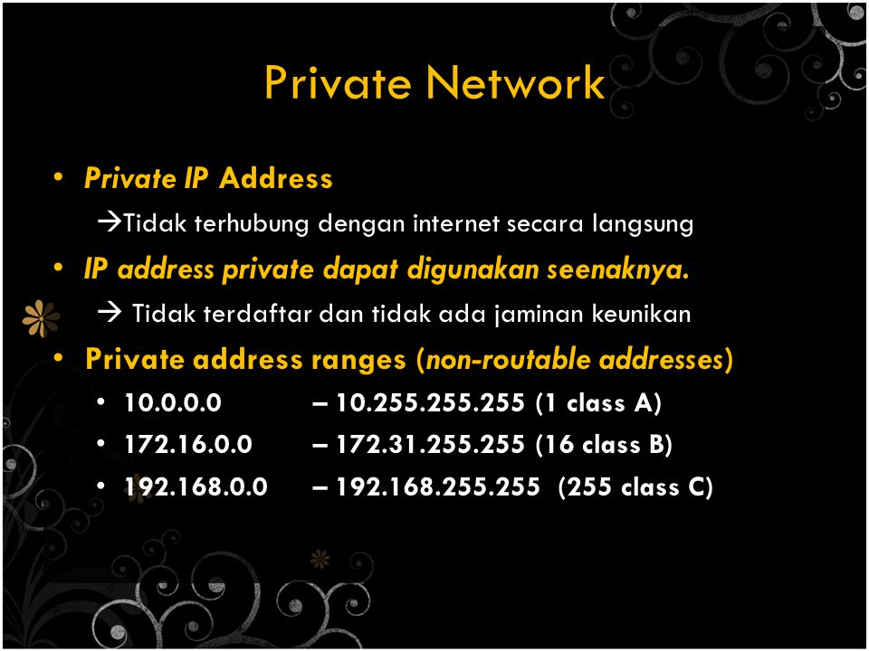 Private Network Private IP Address