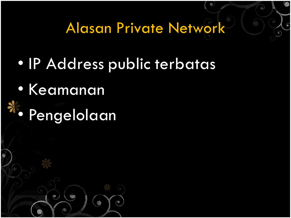 Alasan Private Network