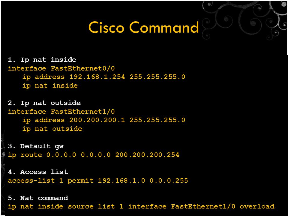 Cisco Command