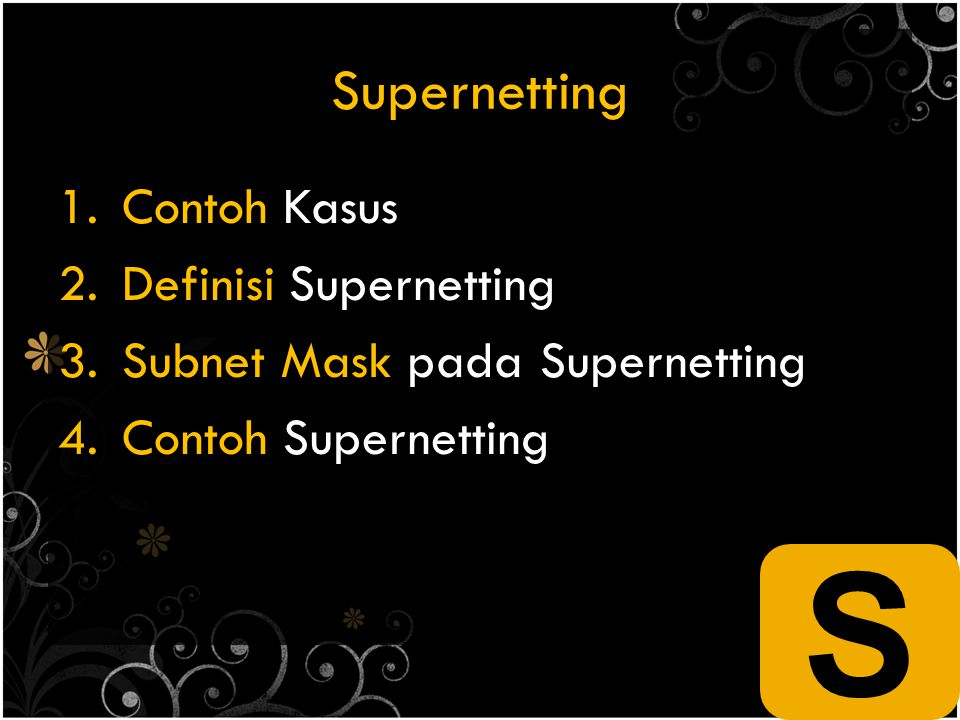 S Supernetting Contoh Kasus Definisi Supernetting