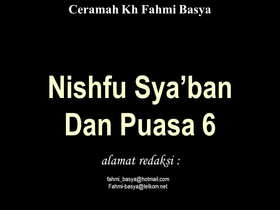 Nishfu Sya'ban Dan Puasa 6