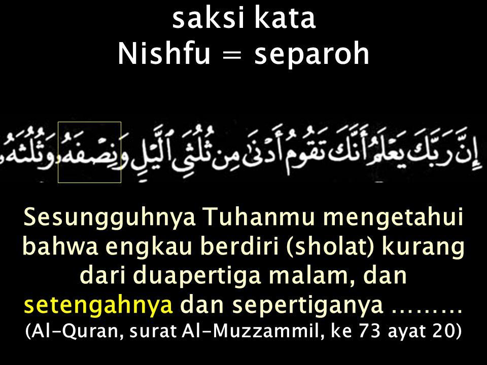 (Al-Quran, surat Al-Muzzammil, ke 73 ayat 20)