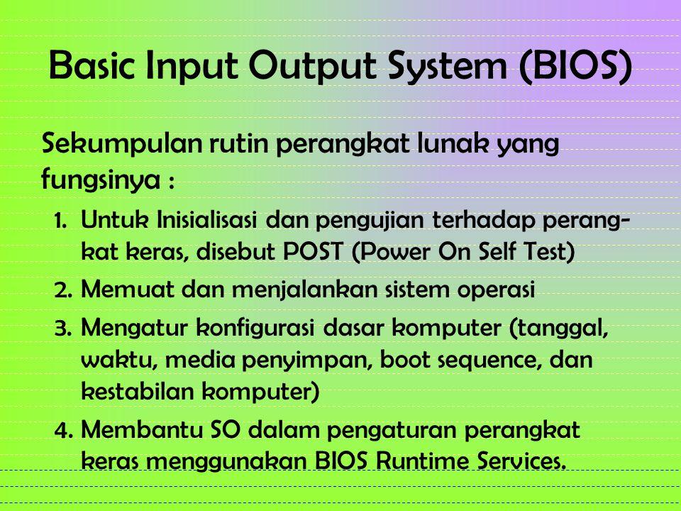 Basic Input Output System (BIOS)