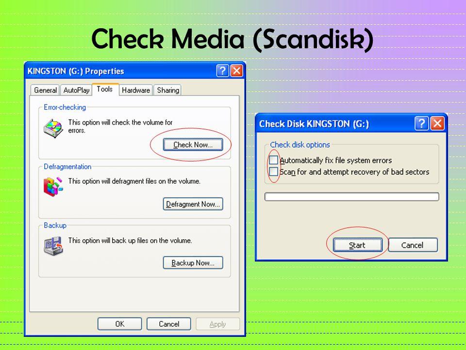 Check Media (Scandisk)