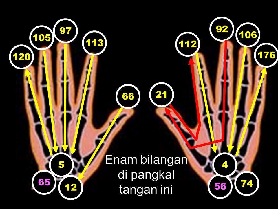 Enam bilangan di pangkal tangan ini