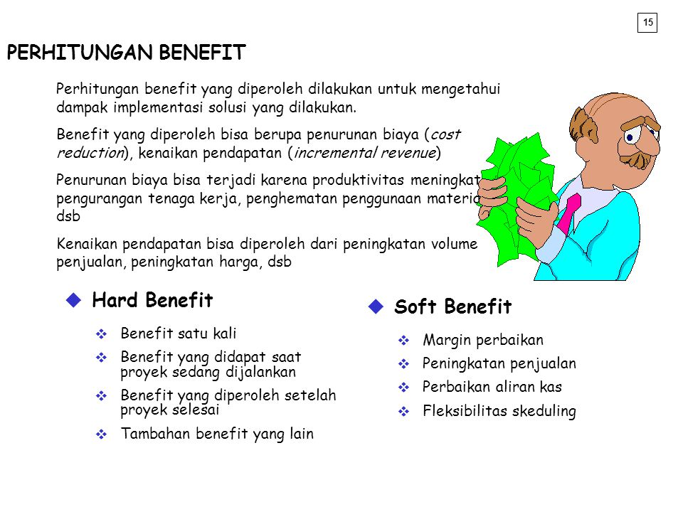PERHITUNGAN BENEFIT Hard Benefit Soft Benefit