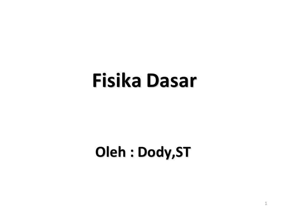Fisika Dasar Oleh : Dody,ST
