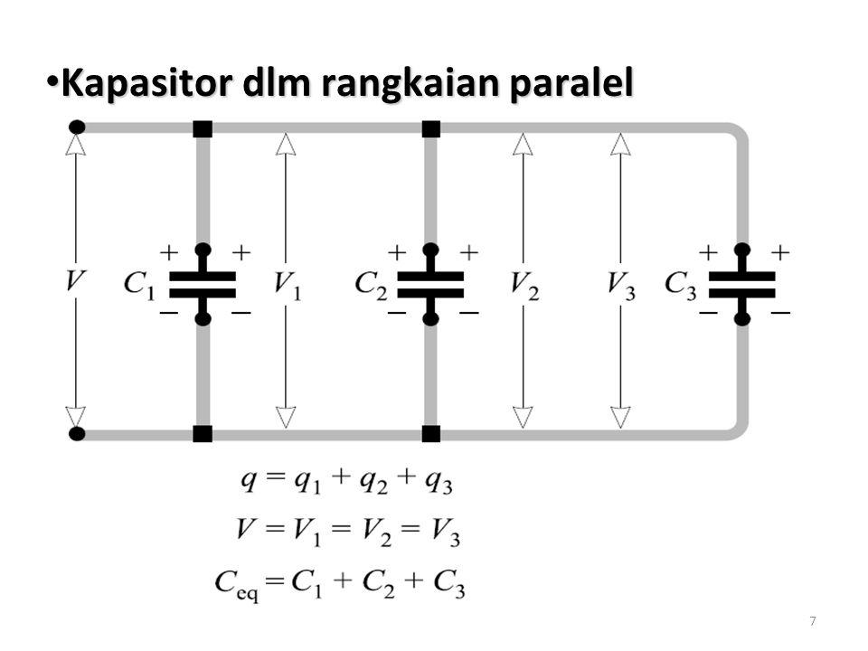Kapasitor dlm rangkaian paralel