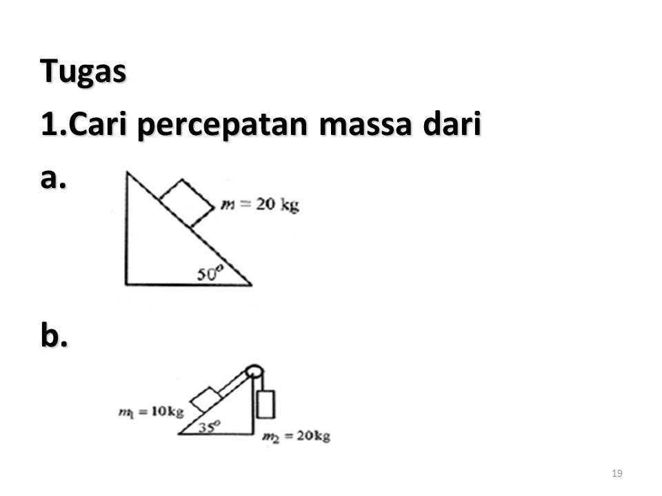 Tugas 1.Cari percepatan massa dari a. b.