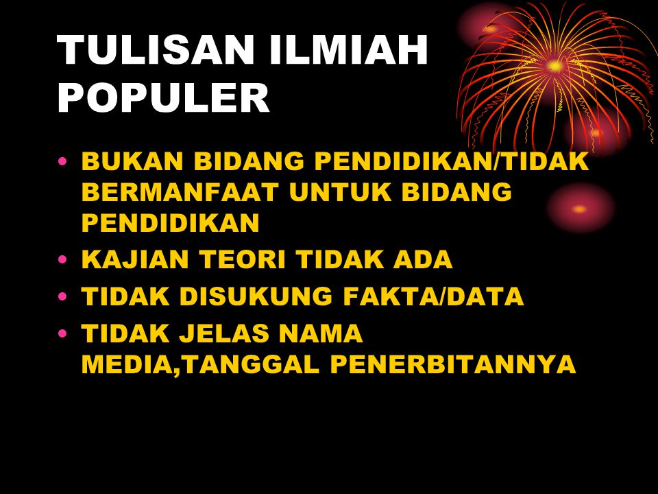 TULISAN ILMIAH POPULER