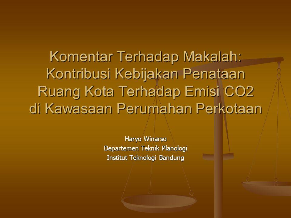 Haryo Winarso Departemen Teknik Planologi Institut Teknologi Bandung