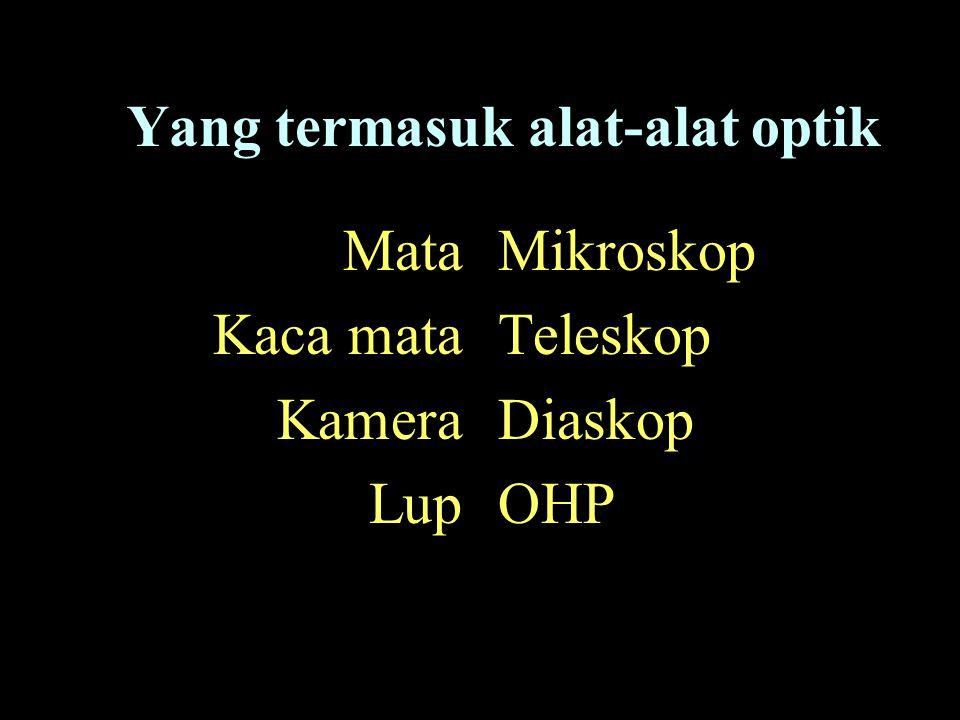 Yang termasuk alat-alat optik