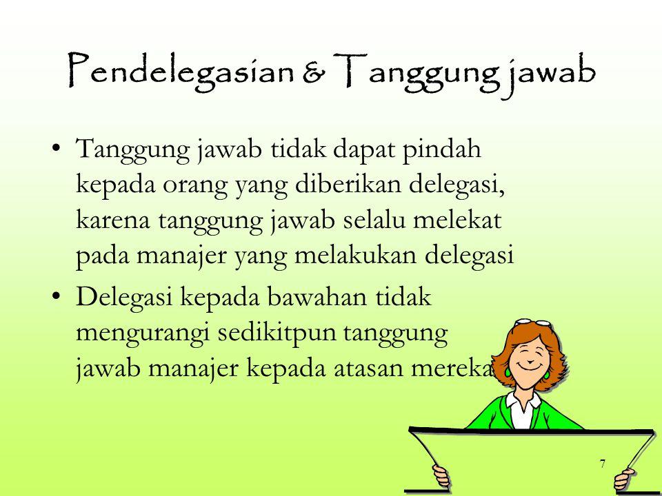 Pendelegasian & Tanggung jawab