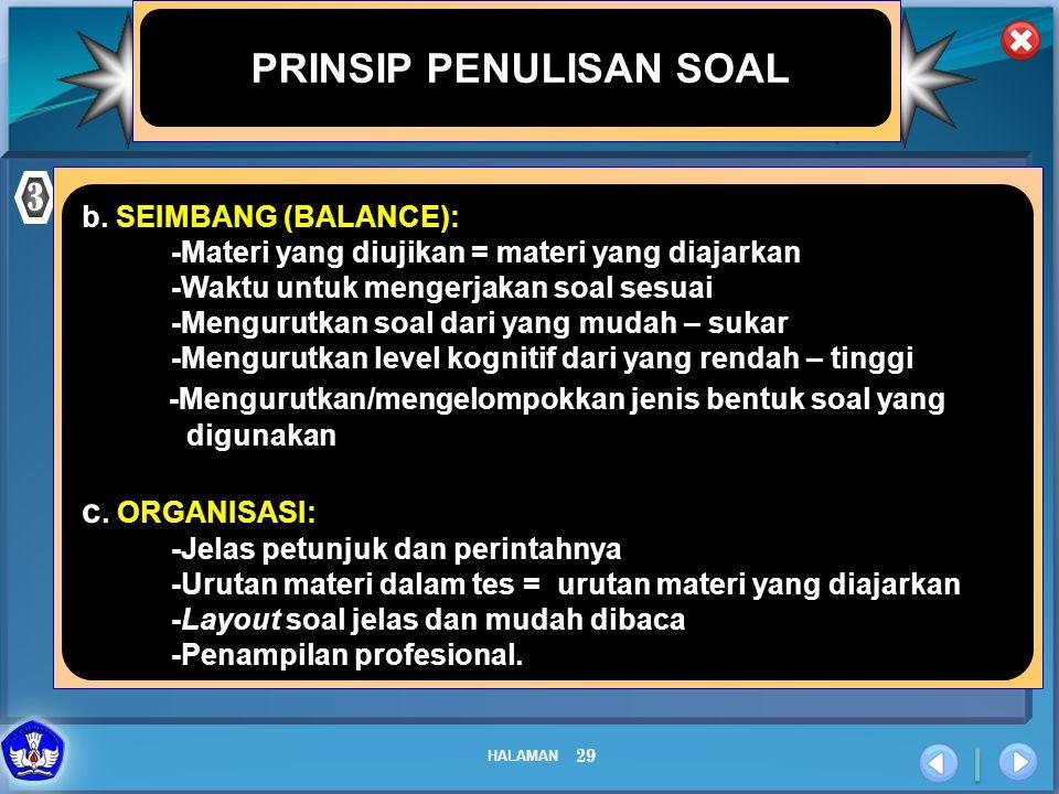 PRINSIP PENULISAN SOAL