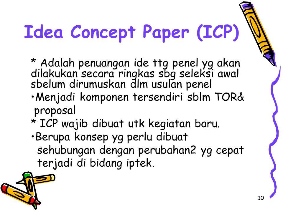 Idea Concept Paper (ICP)