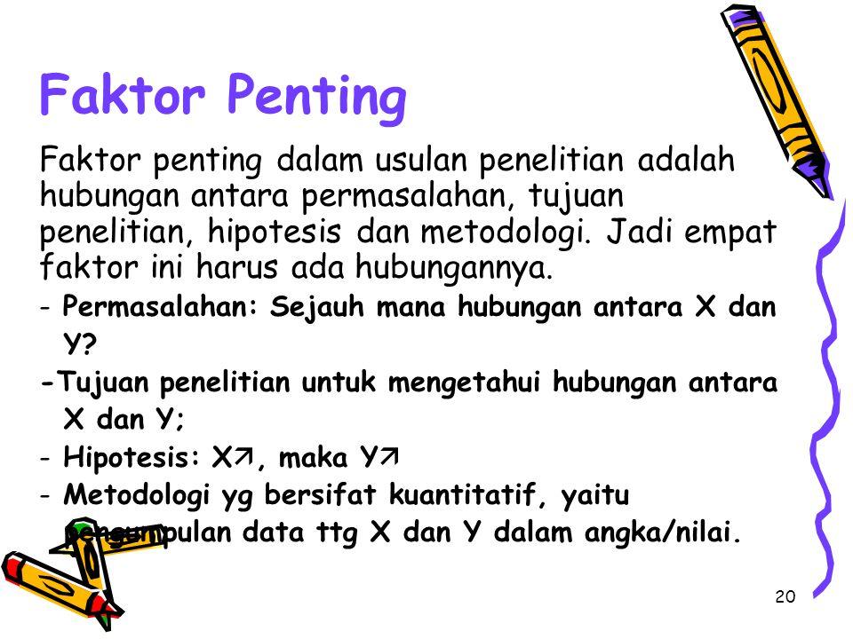 Faktor Penting
