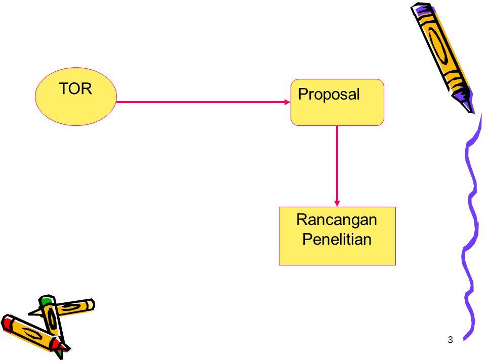TOR Rancangan Penelitian Proposal