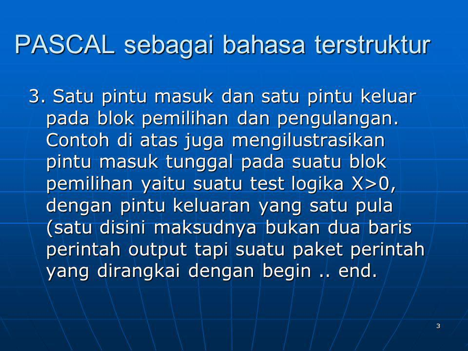 PASCAL sebagai bahasa terstruktur