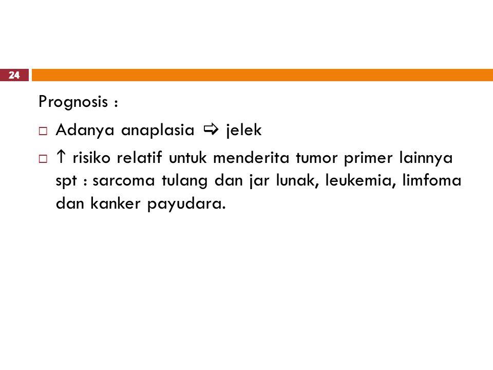 Adanya anaplasia  jelek
