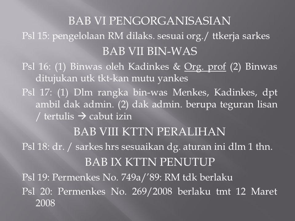 BAB VI PENGORGANISASIAN BAB VII BIN-WAS