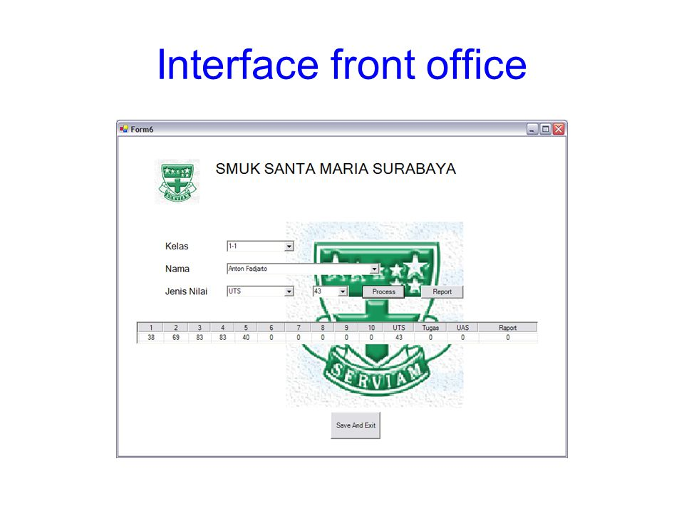 Interface front office