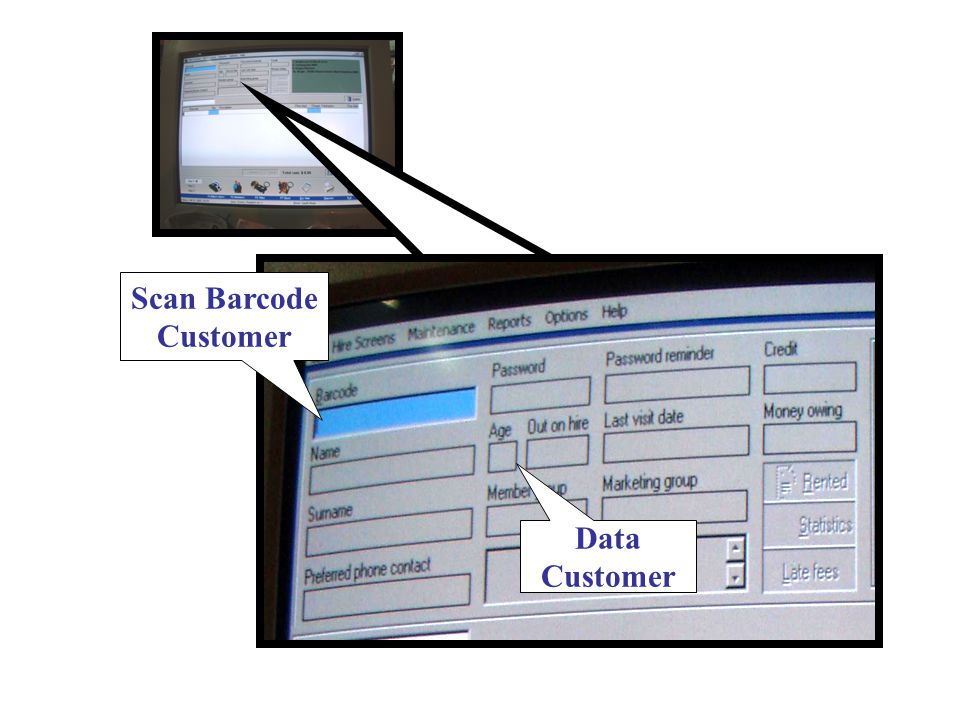 Scan Barcode Customer Data Customer