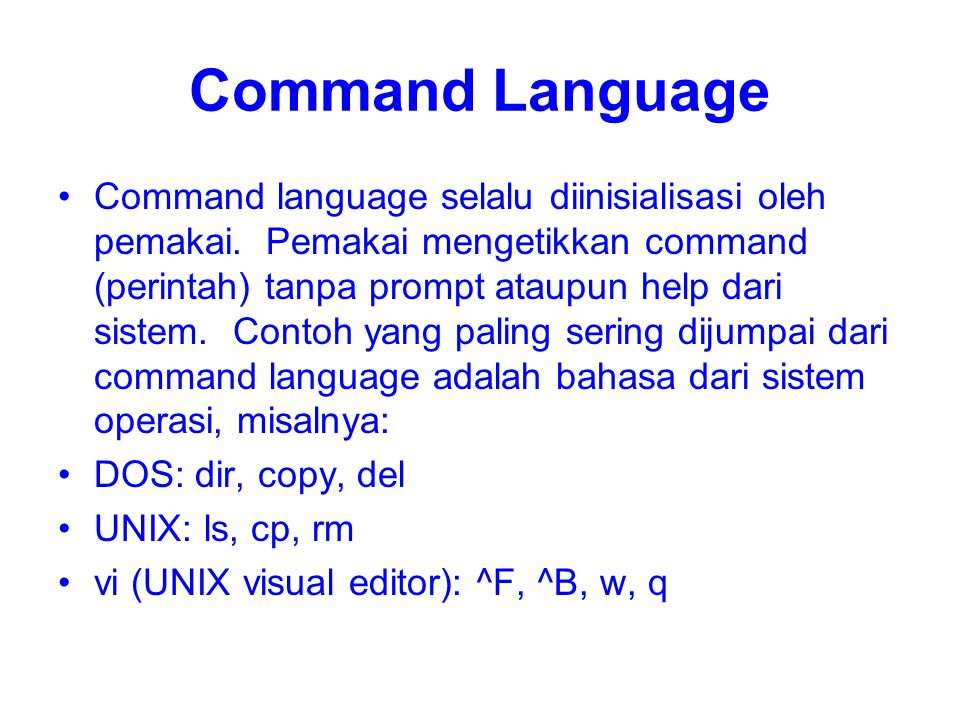 Command Language