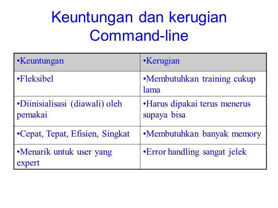 Keuntungan dan kerugian Command-line