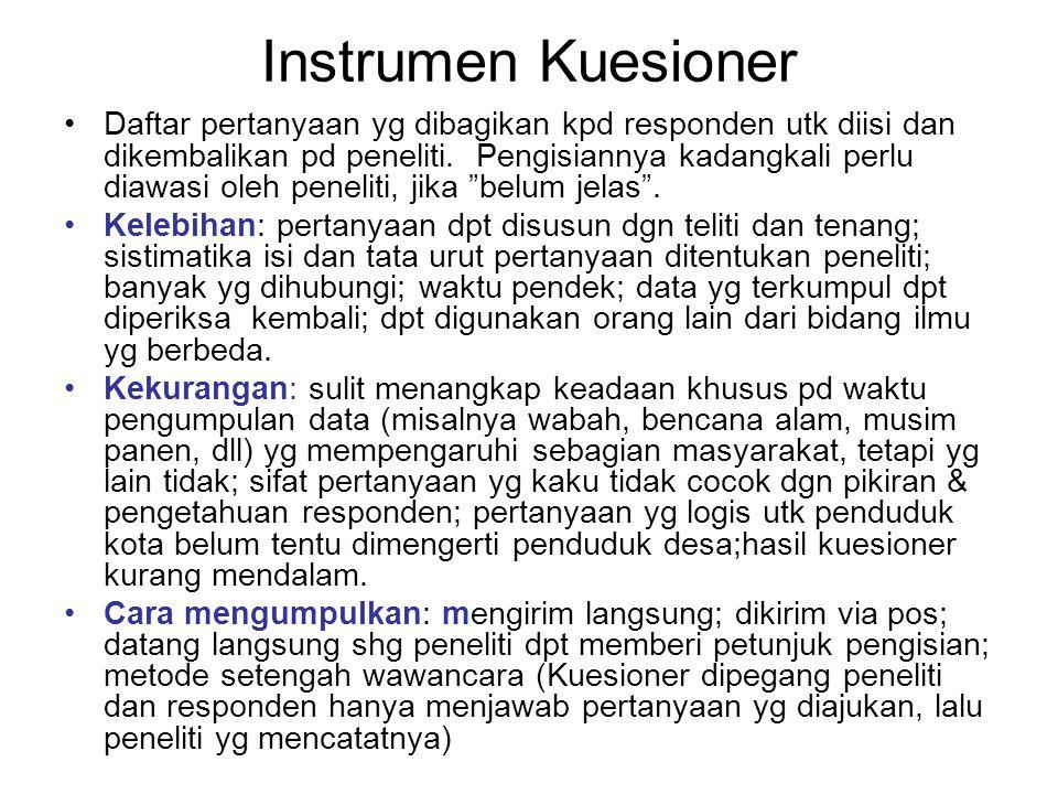 Instrumen Kuesioner