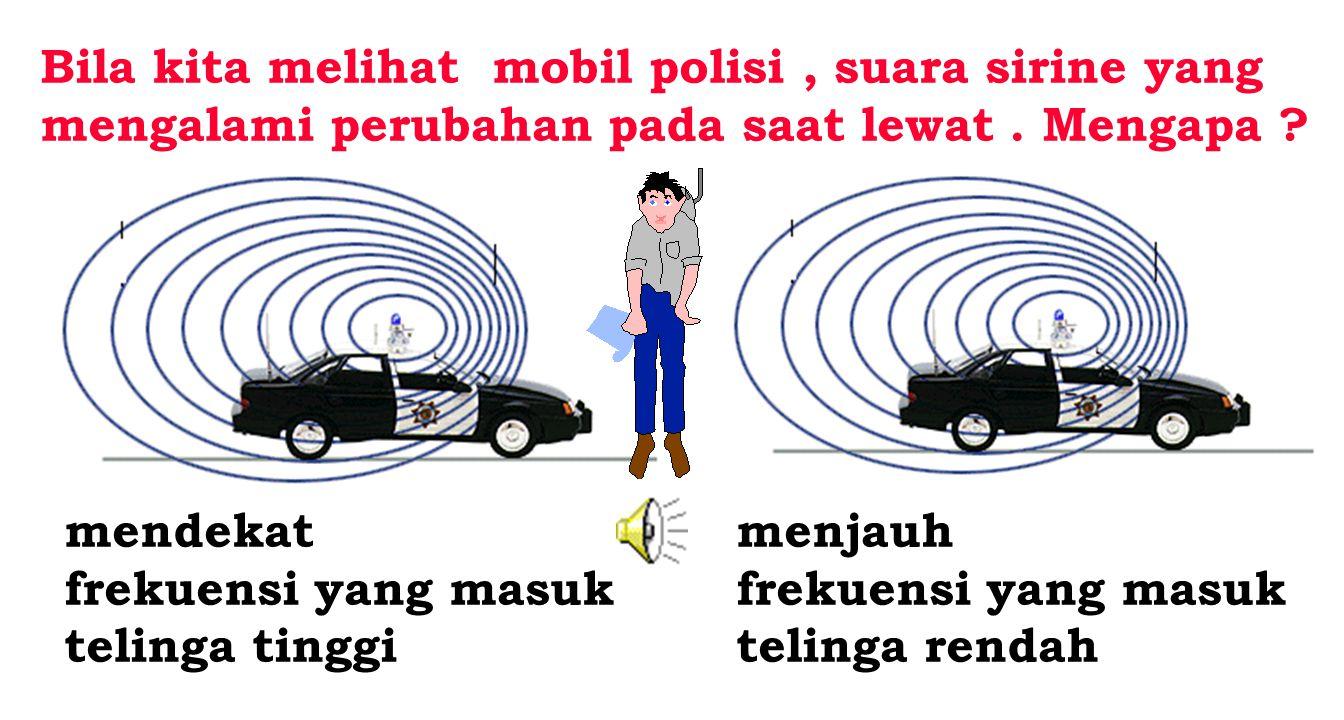 Bila kita melihat mobil polisi , suara sirine yang