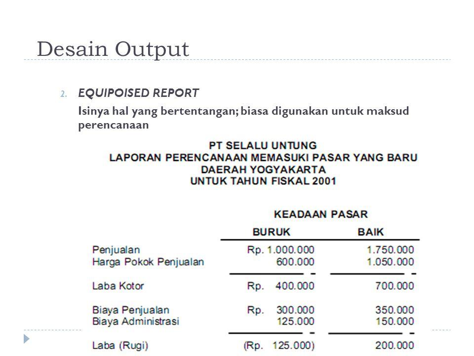 Desain Output EQUIPOISED REPORT