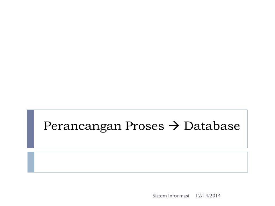 Perancangan Proses  Database