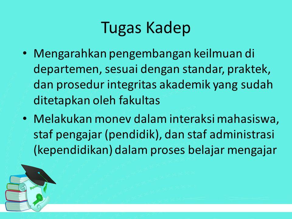 Tugas Kadep