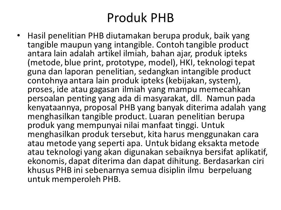 Produk PHB