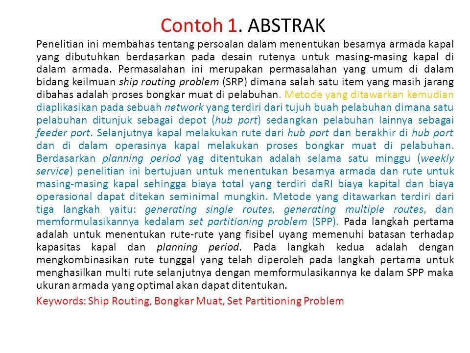 Contoh 1. ABSTRAK