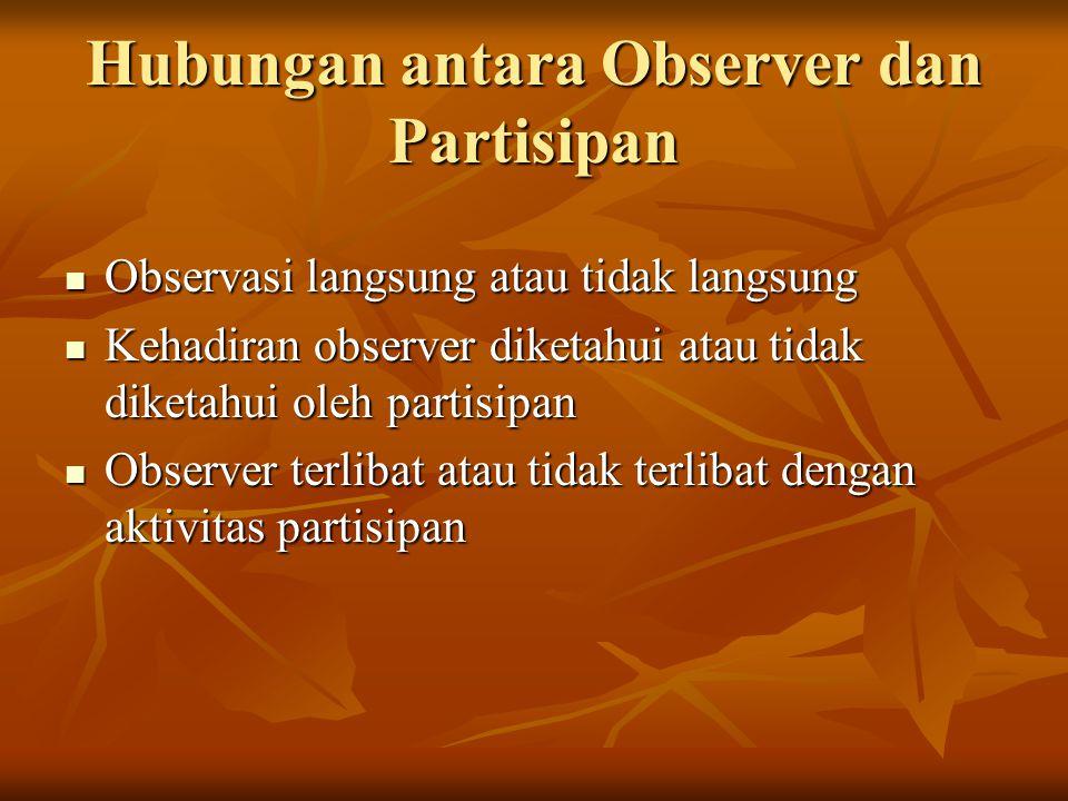 Hubungan antara Observer dan Partisipan