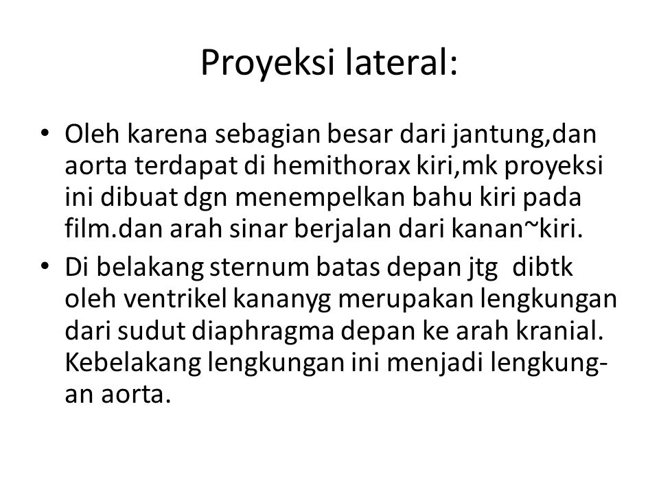 Proyeksi lateral: