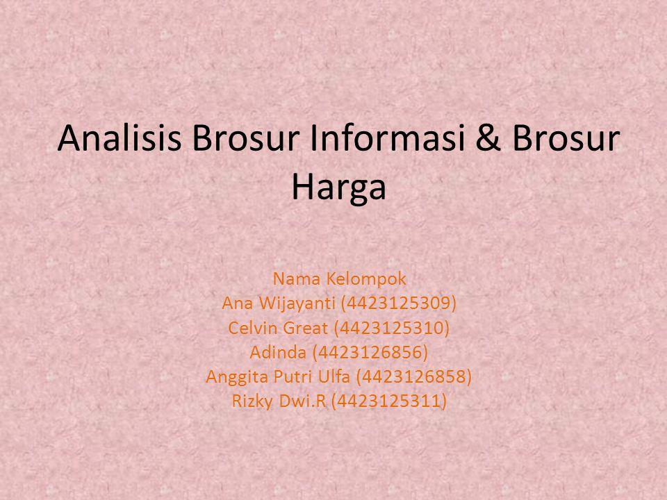 Analisis Brosur Informasi & Brosur Harga