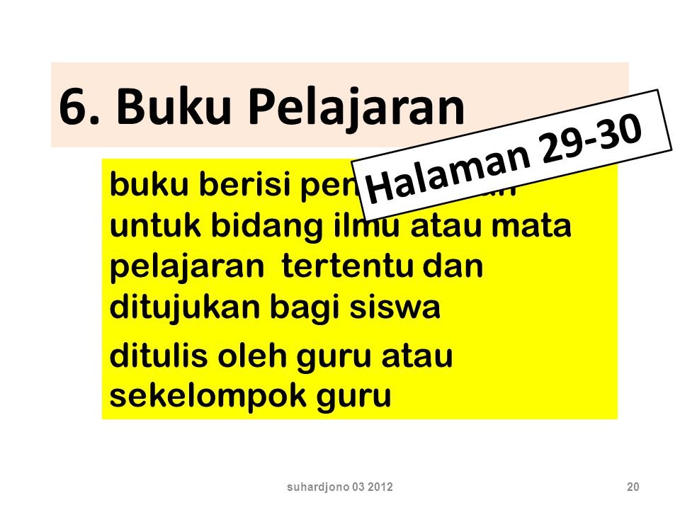 6. Buku Pelajaran Halaman 29-30