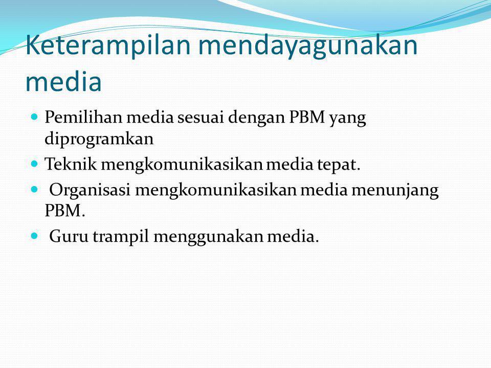 Keterampilan mendayagunakan media