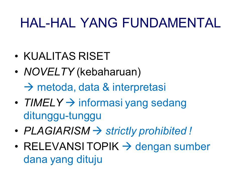 HAL-HAL YANG FUNDAMENTAL