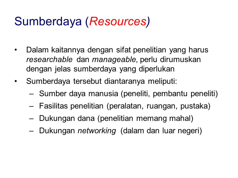 Sumberdaya (Resources)