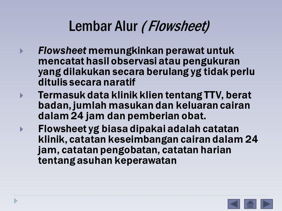 Lembar Alur ( Flowsheet)